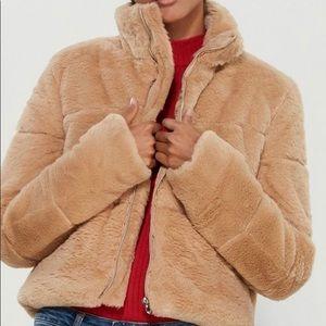 Tiger mist faux fur puff jacket
